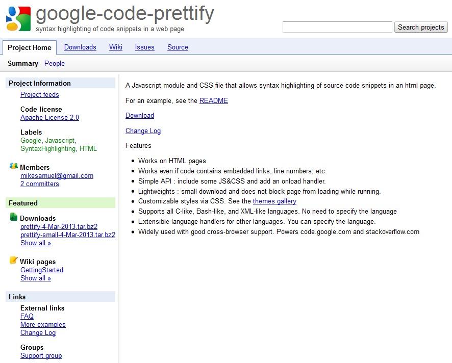 google-code-prettifyを導入し、ブログにプログラム(ソースコード)を載せる