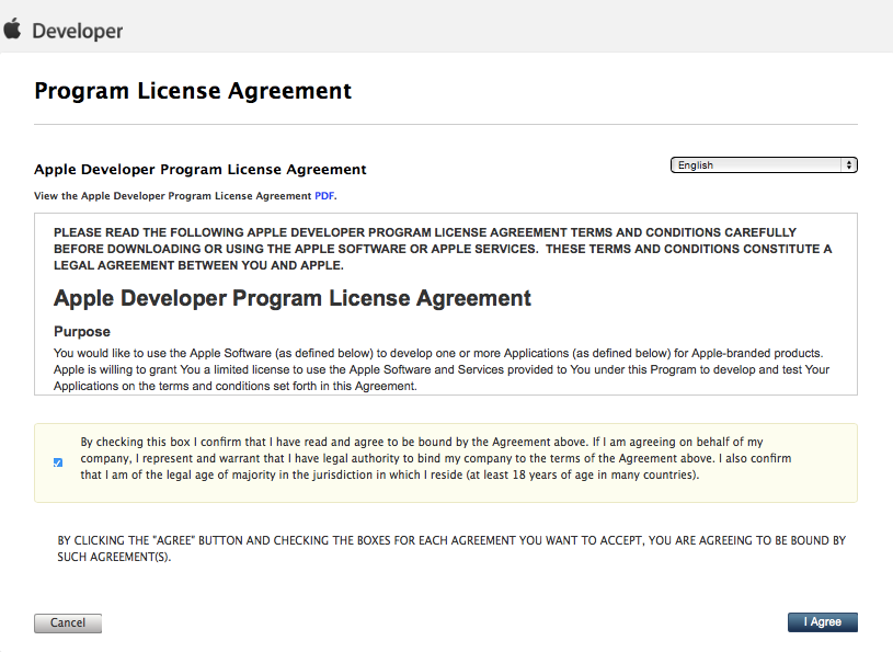 Program License Agreement
