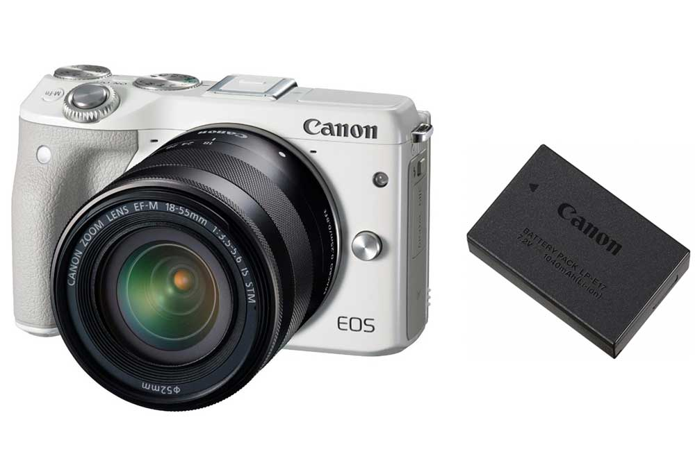 Canon EOS M3、EOS 8000D、EOS Kiss X8iで使えるバッテリーまとめ。