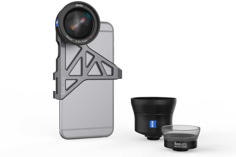ExoLens with optics by ZEISS カールツァイスのiPhoneに装着できるレンズが登場