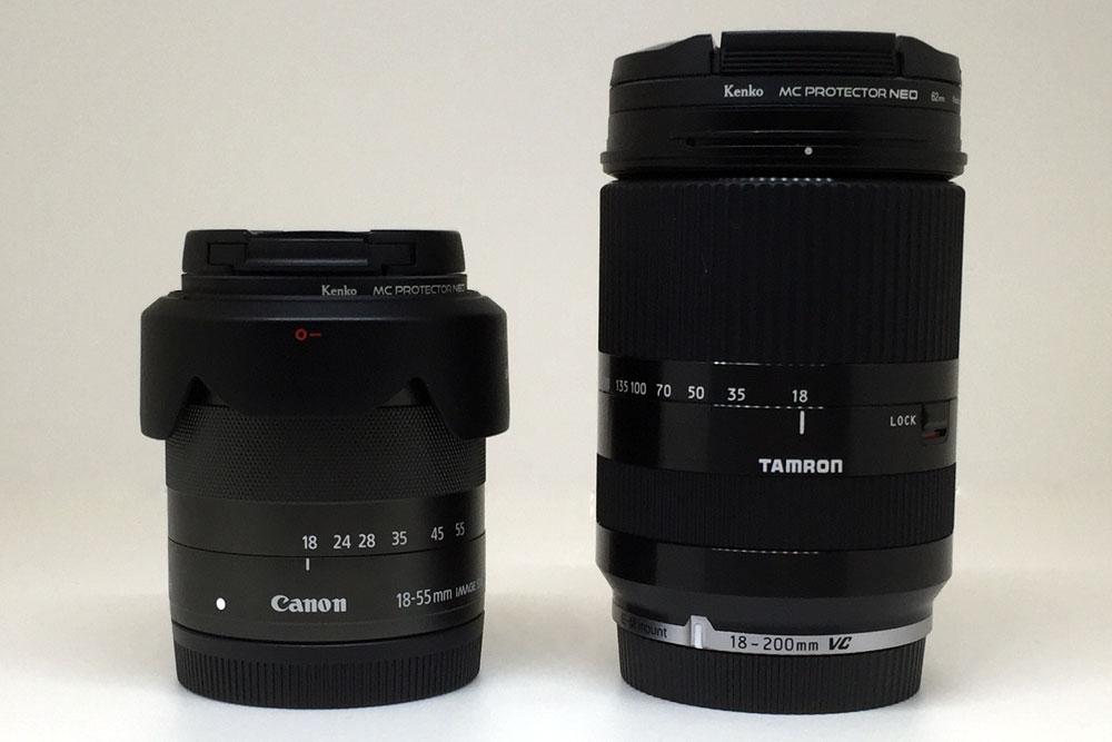 EF-M標準レンズとの比較