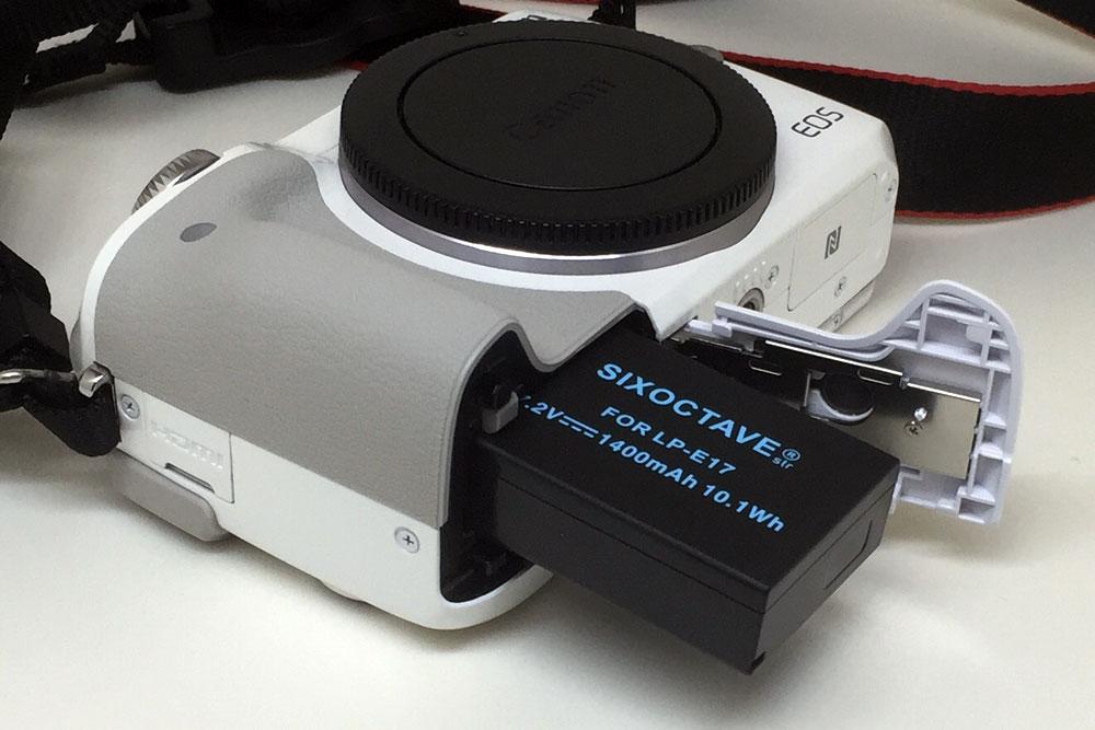 Canon EOS M3で互換バッテリー使用時に残量を確認する方法