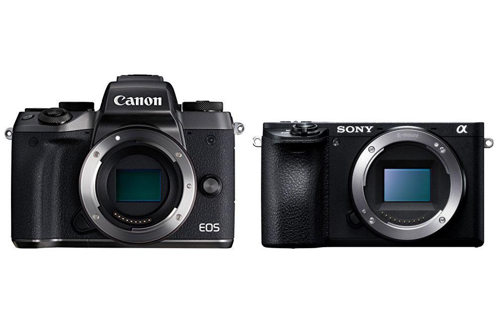 Canon EOS M5 と SONY α6500 を比較してみた。